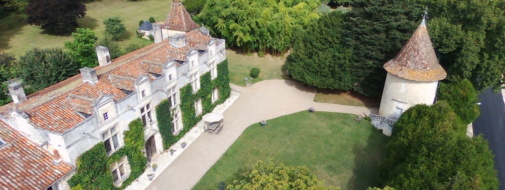 Chateau de Maumont : vue du ciel ©Chateau de Maumont