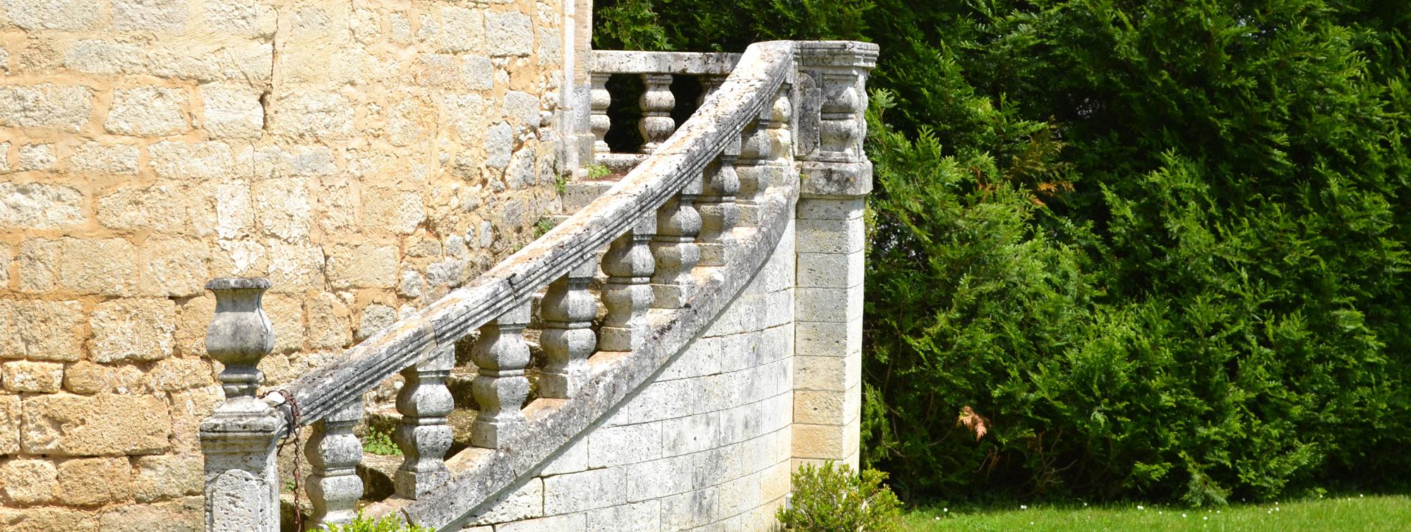 Escalier Tour de Maumont ©Chateau de Maumont