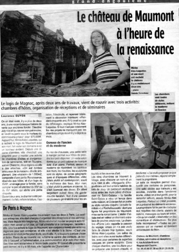 Le Château de Maumont à l'heure de la renaissance